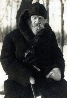 Leo Tolstoy (1828 – 1910) in his Yasnaya Polyana Estate, 1909