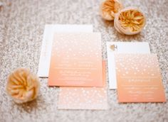 peach wedding invitations, photo by Laura Ivanova http://ruffledblog.com/spring-minneapolis-wedding #weddinginvitations #minted #orange