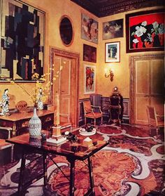 Comte Etienne de Beaumont's Roman entrance hall,1953 #embarrassmentofriches #theinspirationofthepast