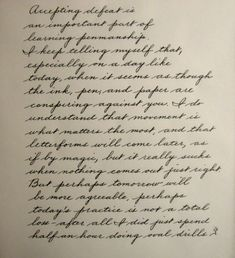 Learning The Palmer Method Of Business Writing - Page 9 - Handwriting & Handwriting Improvement How To Write Calligraphy, Calligraphy Handwriting, Calligraphy Letters, Penmanship, Cursive Handwriting Practice, Caligraphy, Handwriting Examples, Handwriting Styles, Handwriting Analysis