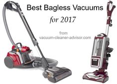 The best bagless vacuum cleaners for Lists of the top bagless uprights and canisters as well as their pros & cons. A good article to read before you buy. Best Bagless Vacuum Cleaner, Car Vacuum, Floor Cleaners, Best Vacuum For Carpet, Best Canister Vacuum, Cleaning Hacks, Canisters