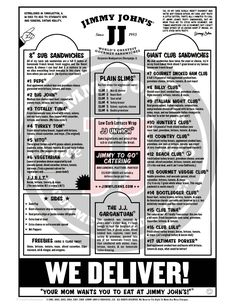 Jimmy Johns nomnomnom....... A must when we're in