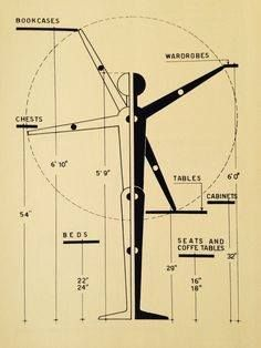 standard furniture measures 1950s