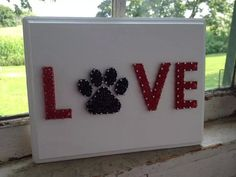 LOVE With A Paw Custom String Art on Wooden by BlossomsNKnots