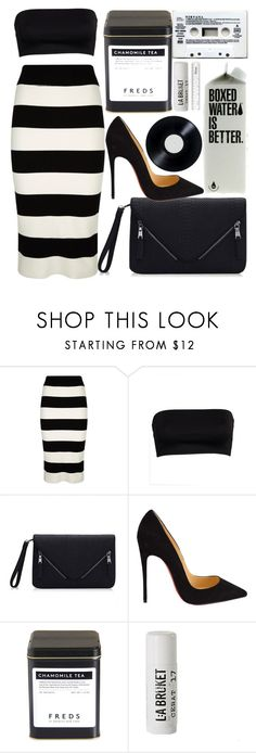 """""""But Why Would I Want To?"""" by egordon2 ❤ liked on Polyvore featuring Milly, Christian Louboutin, FREDS at Barneys New York, L:A Bruket and blackandwhite"""