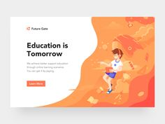 Education Webpage and Illustration by Rounded Rectangle | Dribbble | Dribbble