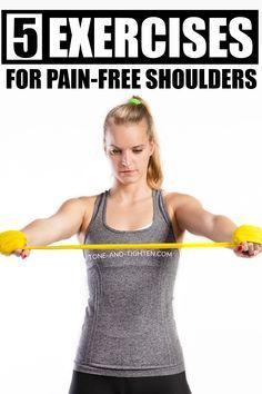 How To Strengthen Rotator Cuff - Physical Therapy Exercises For Shoulder Pain Shoulder Injury Exercises, Rotator Cuff Injury Exercises, Rotator Cuff Strengthening, Neck And Shoulder Exercises, Back Pain Exercises, Shoulder Workout, Scapula Exercises, Flexibility Exercises, Sore Shoulder