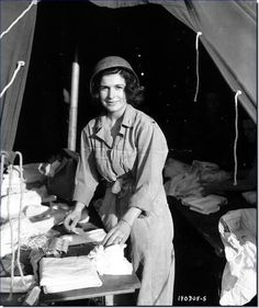 A nurse from the American Army in France after the Normandy landings
