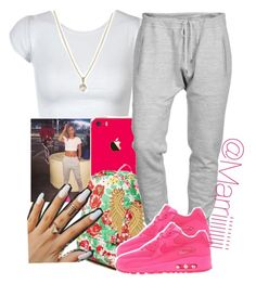 """""""Untitled #357"""" by trill-forlife ❤ liked on Polyvore featuring Joyrich, Tatty Devine, Dsquared2, NIKE and Laura Lee Jewellery"""
