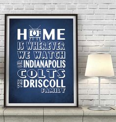 Indianapolis Colts football inspired Home is by InkBlotzArt