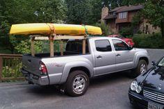 wood canoe rack