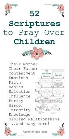 These 52 Scripture Prayer Cards to Pray Over Children are a beautifully designed and the perfect tool for all parents!