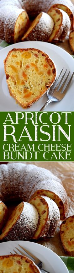 apricot-raisin-cream-cheese-bundt-cake.  bake at 325 for 1 hour. 350 will burn it on the outside and not be done inside