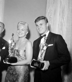Peggy Lee and Tab Hunter Hunter Movie, Tab Hunter, Zombie Prom, Billboard Hot 100, Famous Couples, Young Love, Artist Life, Video Film, Pop Singers