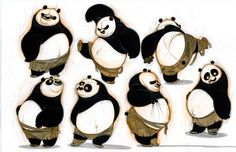 kung fu panda original drawings tigress - Google Search