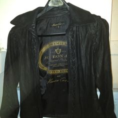 Kenneth Cole Black Leather Jacket, Signed by Jon Bon Jovi, Limited Edition, only 300 made.