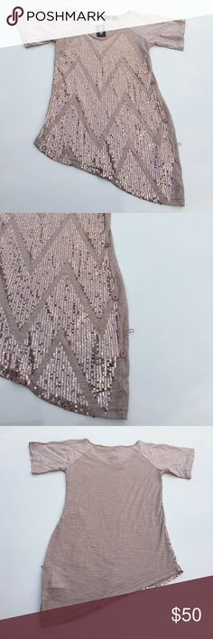 (New) Women's Miss Me Gathered Sequin Dressy Top BRAND NEW. Tag attached. Size: XS. 100% polyester. Left side gathers with buttons to create a gathered asymmetric look or just leave them unbuttoned. Either way is pretty. Retails for $64+ tax. Smoke/pet free. Miss Me Tops