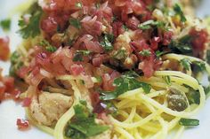 Maggie Beer's tuna pasta uses fresh tuna, not tinned, for a light and flavour-packed dish.