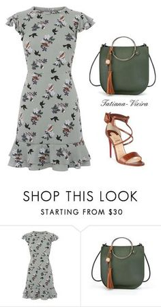A fashion look from June 2017 featuring green print dress, criss cross strap sandals and vegan tote. Browse and shop related looks. Look Fashion, Retro Fashion, Runway Fashion, Womens Fashion, French Fashion, Winter Fashion, Classy Outfits, Chic Outfits, Fashion Outfits