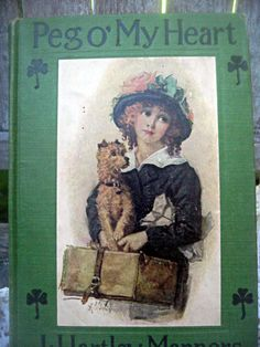 Vintage book 'Peg O' My Heart' lovely cover by LittleBeachDesigns