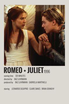 Alternative Minimalist Movie/Show Polaroid Poster Romeo Juliet Iconic Movie Posters, Minimal Movie Posters, Minimal Poster, Iconic Movies, Movie Poster Art, Poster Wall, Disney Movie Posters, Poster Series, Poster Layout