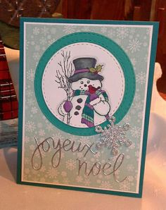 Country Snowman - Stampendous ! (M318)