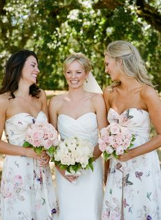 Get the Look: Floral Print Bridesmaid Dresses | SouthBound Bride                                                                                                                                                                                 More