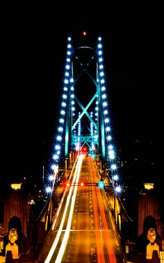 Lions Gate Bridge at night | Flickr - Vancouver  British Columbia Photo