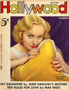 vintagecovers:    Hollywood Magazine November 1935 Carole Lombard