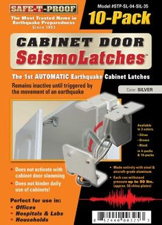 Automatic Earthquake Activated Cabinet Latch