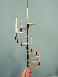 otterine's miniatures/ Another way to make a spiral staircase Een uitgebreide tutorial met veel extra's