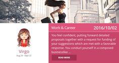Virgo work & career horoscope for 2016/10/02. PIN/LIKE if accurate. #virgo, #horoscope, #horoscopes, #astrology