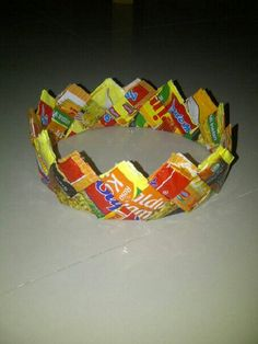 Crown, recycling instant noodle packs