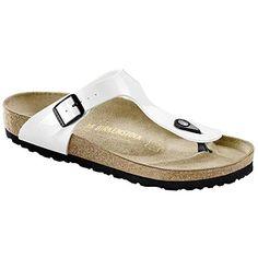 Birkenstock 543763 Womens Gizeh Sandal White Size 40 S EU >>> Click image for more details.