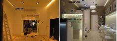 Ideas de #Decoracion de #Salon, estilo #Moderno diseñado por Construcciones MILAGROS Decorador con #Antes y despues  #CajonDeIdeas