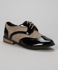 This Chase & Chloe Black Stevie Oxford by Chase & Chloe is perfect! #zulilyfinds