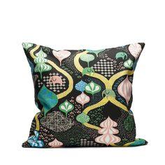 Saga Forest Kissen 50 x - schwarz-multi - Littlephant Colourful Cushions, Scatter Cushions, Throw Pillows, Camilla, Saga, Forest Design, Kidsroom, Royals, Home Accessories