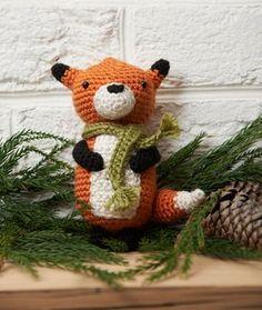 Renard en hiver patron crochet amigurumi gratuit français ( noel) (christmas free crochet pattern)