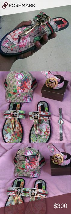 Gucci Gift Set Gift Set Comes with...HAT/Sandals /Glasses/Watch/Belt.. 143 Girl Accessories