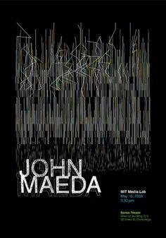Elise Co + Nikita Pashenkov / Poster for John Maeda by AmberFJ, via Flickr