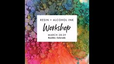 Workshops on resin + alcohol ink - - Diy Resin Art, Epoxy Resin Art, Diy Resin Crafts, Etsy Crafts, Alcohol Ink Glass, Alcohol Ink Crafts, Alcohol Ink Painting, Alcohol Ink Jewelry, Resin Tutorial