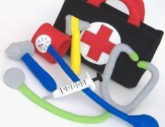 Be a Doctor Set PDF Toy Pattern Doctor Bag di GulfCoastCottagePDF