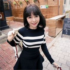 27Buy QNIGIRLS Round-Neck Stripe Knit Top at YesStyle.com! Quality products at remarkable prices. FREE WORLDWIDE SHIPPING on orders over US$35.