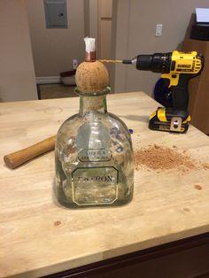 DIY Patron Bottle (Costco size) Tiki torch
