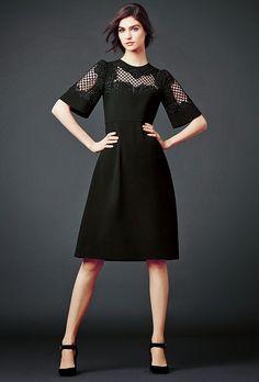 dolce and gabbana black lace modest midi dress with sleeves stylish beautiful fashion Mode-sty