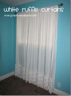 White Ruffle Curtains