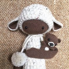 LUPO the lamb made by Mareike D. / crochet pattern by lalylala