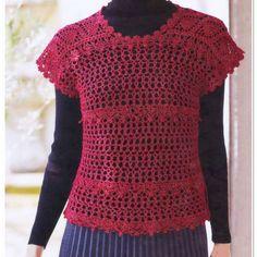 Crochet and arts: crochet top