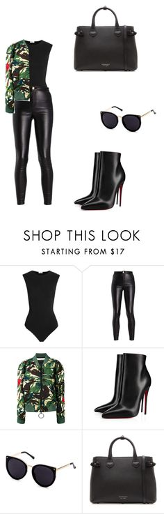 """""""Untitled #209"""" by gabillf ❤ liked on Polyvore featuring Alix, Off-White, Christian Louboutin and Burberry"""