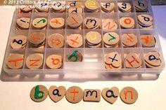 The Montessori Kitchen Corner: Easy DIY Activities & Materials:  DIY Sensory Letters